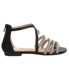 Zwarte dames sandalen LL6339 Zwart
