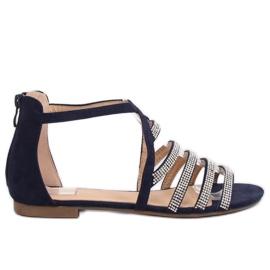 Sandalen dames marine blauw LL6339 Blauw