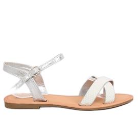 Grijs Dameszilver sandalen WL282 Zilver