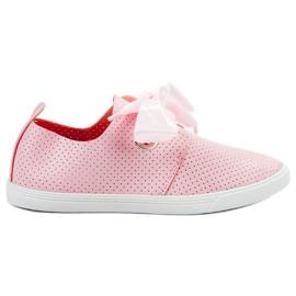 SHELOVET Laarzen die met een lint worden gebonden roze