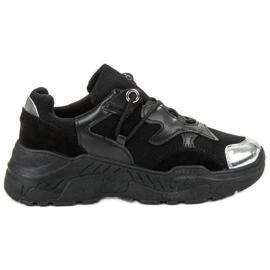 Small Swan zwart Sneakers met veters