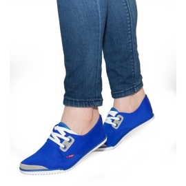Laced Lycra sneakers CC8518 Blauw