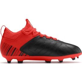 Voetbalschoenen Puma One 5.3 Fg Ag JR105657 01 rood zwart