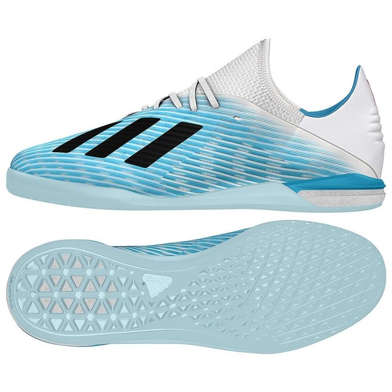 Indoorschoenen adidas X 19.1 In M G25754 blauw blauw