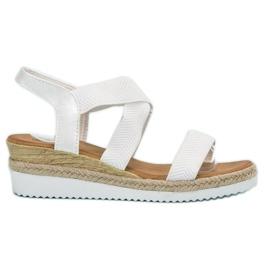 Anesia Paris wit Slip-on sandalen op het platform