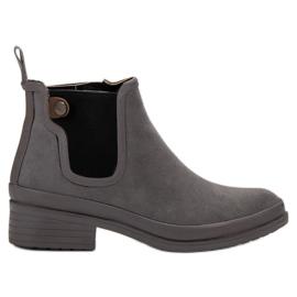 Kylie grijs Booties Jodhpur-laarzen
