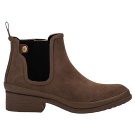 Kylie bruin Booties Jodhpur-laarzen