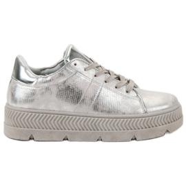 Bestelle grijs Zilveren sportschoenen