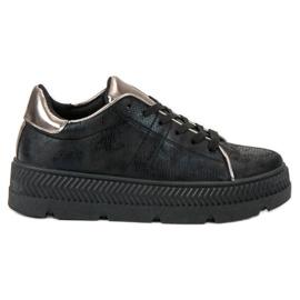 Bestelle zwart Sportschoenen op het platform