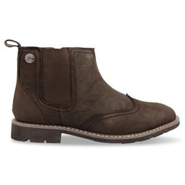 Hoog geïsoleerde schoenen geknoopt 4682 bruin