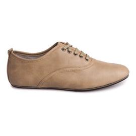 Bruin Elegante schoenen Jazzówki 8312 Beige