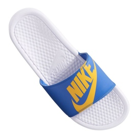 Blauw Nike Benassi Jdi Print 631261-104 slippers