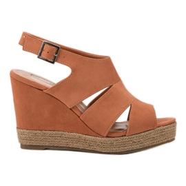 Best Shoes Oranje Espadrilles Sandalen