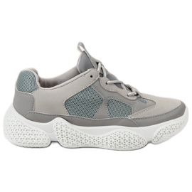 SHELOVET Modieuze grijze sneakers grijs