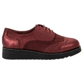 Bestelle rood Platform schoenen