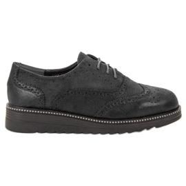Bestelle zwart Platform schoenen
