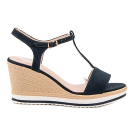 Anesia Paris Lichte marineblauwe sandalen