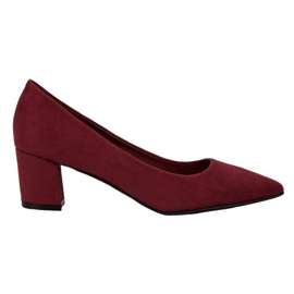 Small Swan rood Comfortabele suede pumps