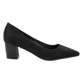 Small Swan zwart Comfortabele suede pumps