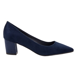 Small Swan blauw Comfortabele suede pumps