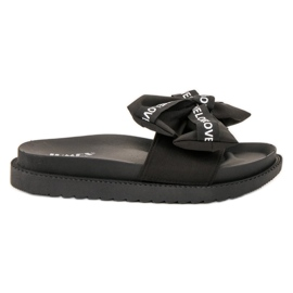 Jumex zwart Flip Flops With Love Bow
