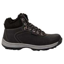 Ax Boxing Geïsoleerde trekking schoenen zwart