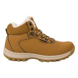 Ax Boxing Geïsoleerde trekking schoenen geel