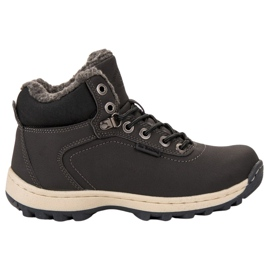 Ax Boxing Geïsoleerde trekking schoenen grijs