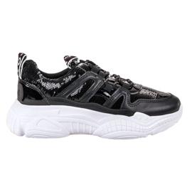 Ax Boxing Sneakers met pailletten zwart