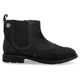 Hoog geïsoleerde lage schoenen 4682 zwart
