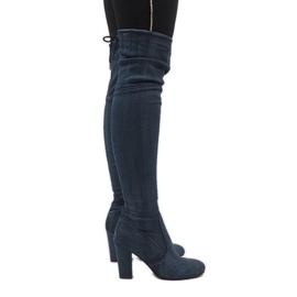 Blauw Jeanslaarzen met scheuren BH71-HB