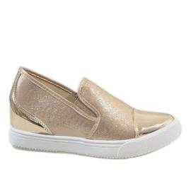 Wedge sneakers DD436-8 geel