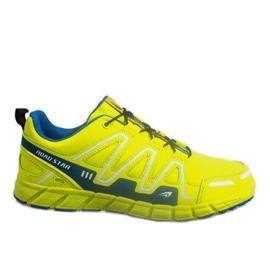 Geel Sport Sneakers Sneakers RS82716-4M GROEN / BLAUW