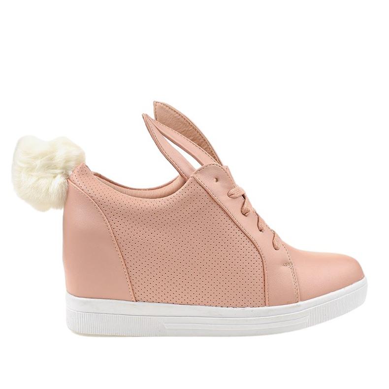 Roze konijnen sneakers H6211-11