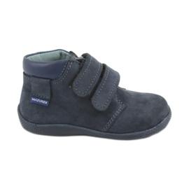 Jongensschoenen met klittenband Mazurek 341 marineblauw