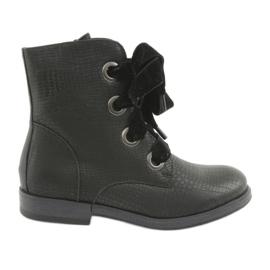 Zwarte veterschoenen HFN-5505 Zwart