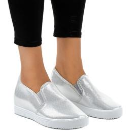 Grijs Zilveren wedge sneakers DD466-2