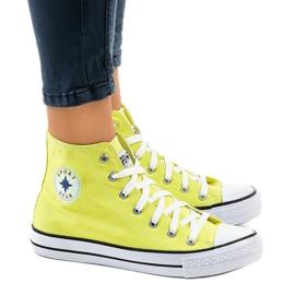Gele klassieke hoge sneakers DTS8224-17