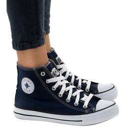 Marine Donkerblauwe klassieke hoge sneakers DTS8224-4