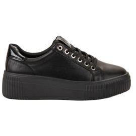 Kylie zwart Sportschoenen op het platform