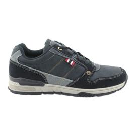 Marineblauwe sneakers van American Club AA08
