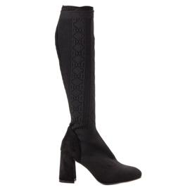 Seastar Zwarte opengewerkte laarzen