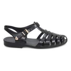 Romeinse sandalen Meliski PT36 zwart