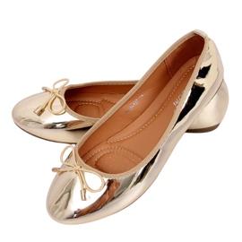 Metallic gouden ballerina's 9988-139 Goud geel