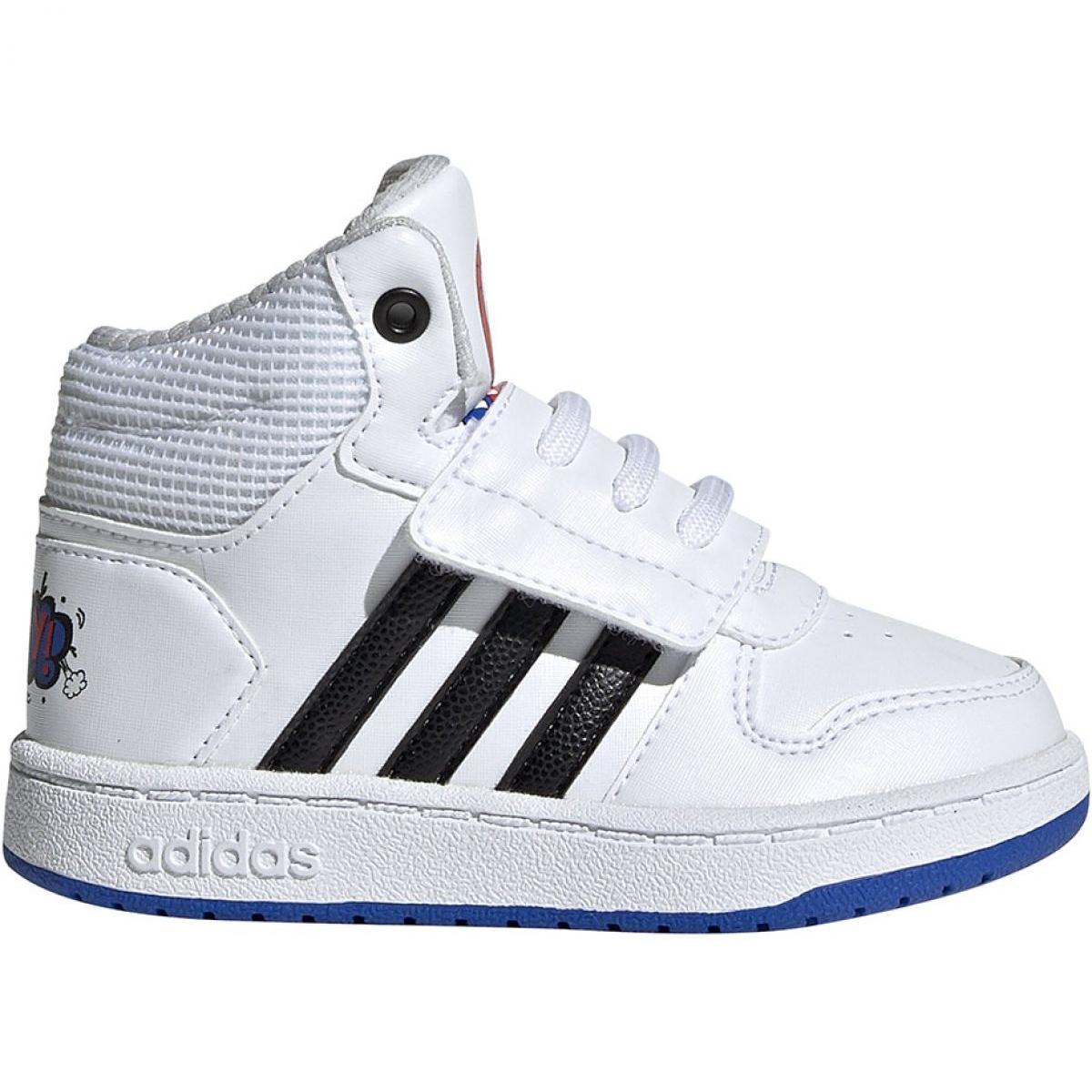 Wit Adidas Hoops Mid 2.0 I Jr EE8551 schoenen
