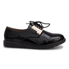 Zwart gelakte Rose schoenen