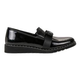Filippo zwart Slip-on lederen schoenen