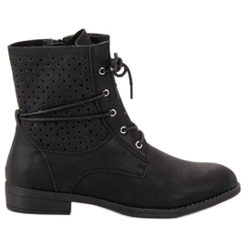 Groto Gogo zwart Modieuze gebonden laarzen