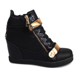 Wedge Sneakers Sheet A89 Zwart
