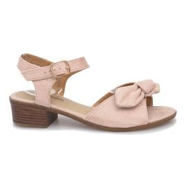 Bruin Noemia sandalen met hoge hakken